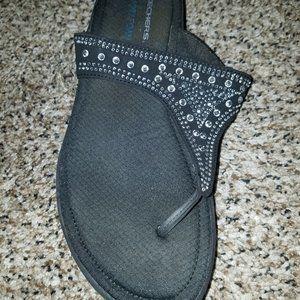 Skechers Rhinestone Flip Flops size 8